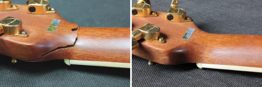 klejenie główki gitary