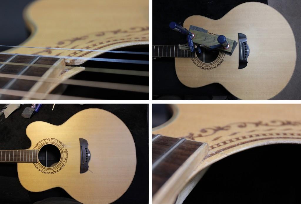 klejenie pęknięta żeberko gitara akustyczna