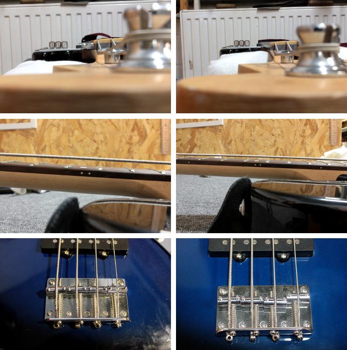 Regulacja gitary basowej