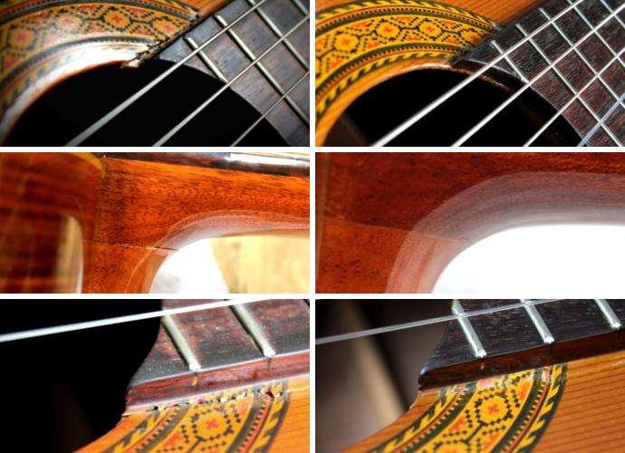 Klejenie gitara klasyczna pęknięcie